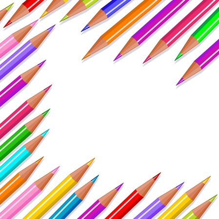 Back to school colored pencils background  Stock Vector - 7313112