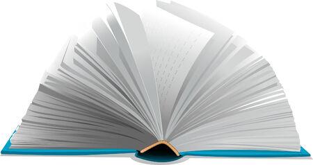 Open book on white background Vettoriali