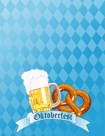 Vertical  Oktoberfest Celebration Background with Copy space. Stock Vector - 7361993