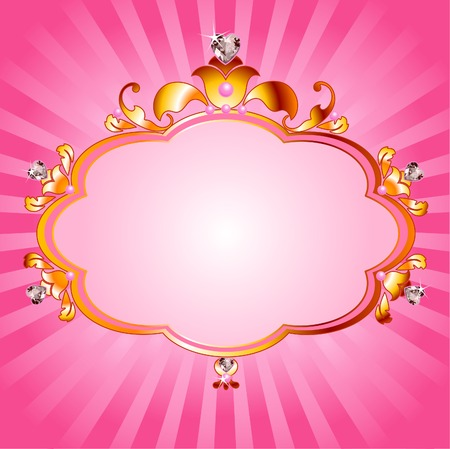 princess: Bella cornice rosa princess. Perfetto per belle ragazze Vettoriali