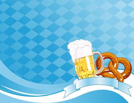 Oktoberfest Celebration Background with Copy space. Vector