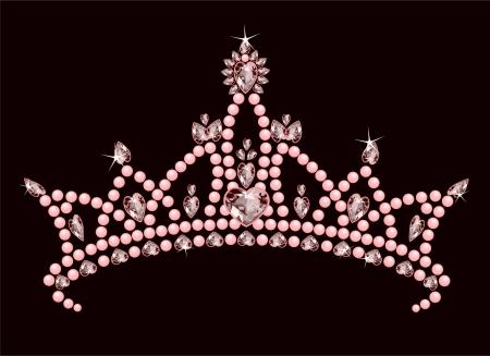 Beautiful shining true princess crown Vector