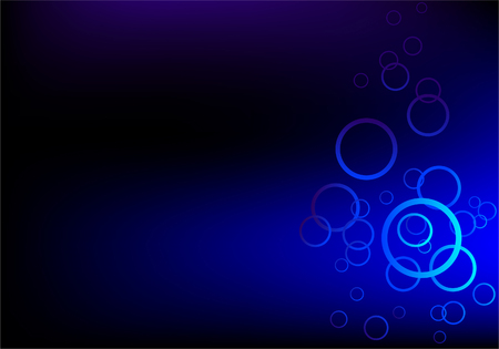 Abstract hi tech blue background with rownds