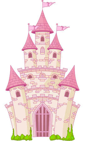 tales: Illustration of a Magic Fairy Tale Princess Castle