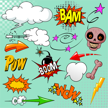 Big set of comic elements for your design