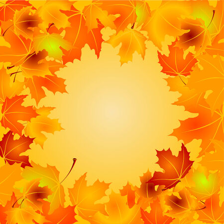 Autumn Leaves background with copy space Vector