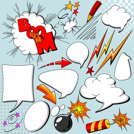 Big set of comic elements for your design Stock Vector - 7628235