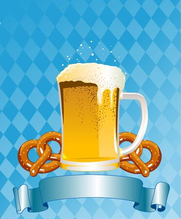 Vertical  Oktoberfest Celebration Background with Copy space. Vector