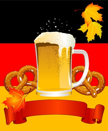 beer festival: Vertical  Oktoberfest Celebration Background with Copy space.