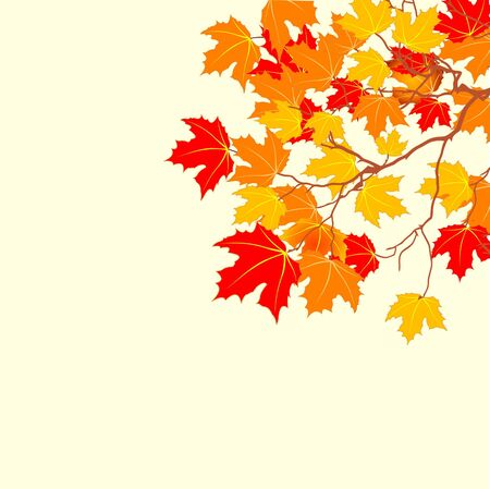 Autumn background with space for text. Vektorové ilustrace