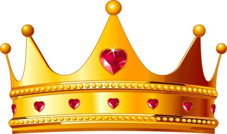 Beautiful illustration of a gold kings crown