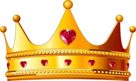 Mooie illustratie van een gouden koningen kroon  Vector Illustratie