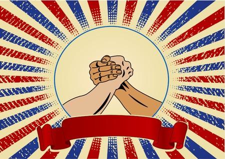 Diseño para el día del trabajo con las manos worker?s  Ilustración de vector
