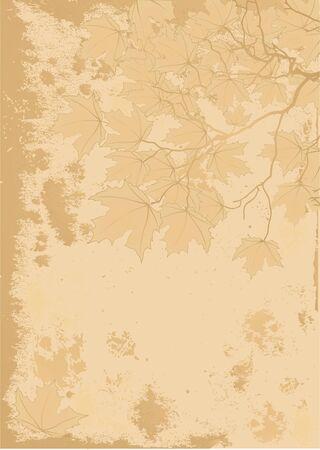 Antieke stile herfst achtergrond met ruimte voor tekst.