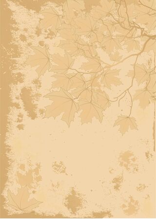 Antique stile Autumn background with space for text.  Ilustracja