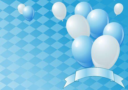 コピー スペースでオクトーバーフェストのお祝いの背景。  イラスト・ベクター素材