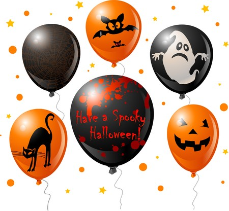Halloween balloon set for your design Stock Vector - 7684764