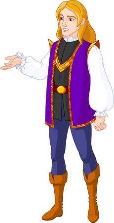 prince charming: Illustration of  Prince charming presenting Illustration