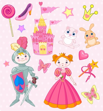fairy princess: Vector Illustration of Fairy Tale design elements.