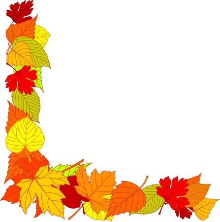Fall leaves page corner borders Stock Vector - 7879529