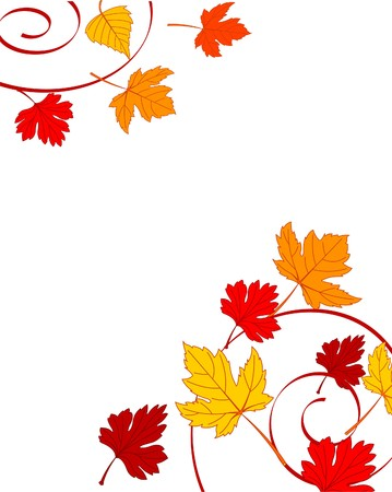 Autumn ornament with maple leaves Stock Vector - 7879528