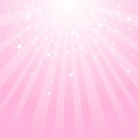 星とストライプとピンクの抽象的な背景  イラスト・ベクター素材