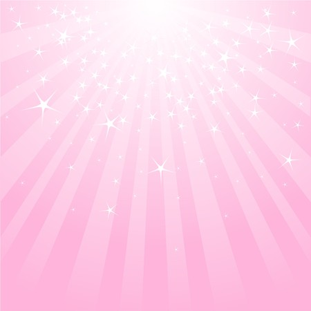 banner effect: Pink abstract background with stars and stripes Illustration