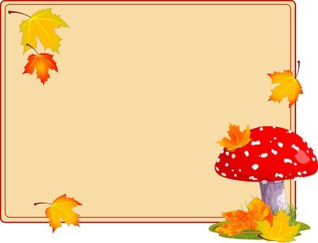 champignon magique: Mouche agaric dans une herbe. Arri�re-plan automne