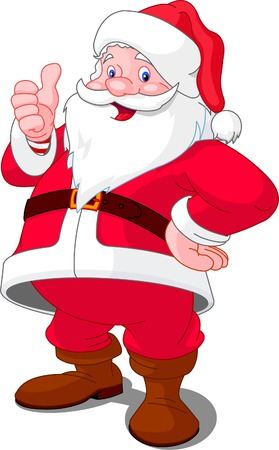 thumbs up: Christmas Santa Claus with thumb up gesture