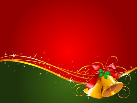 Christmas background with Christmas bells Vector