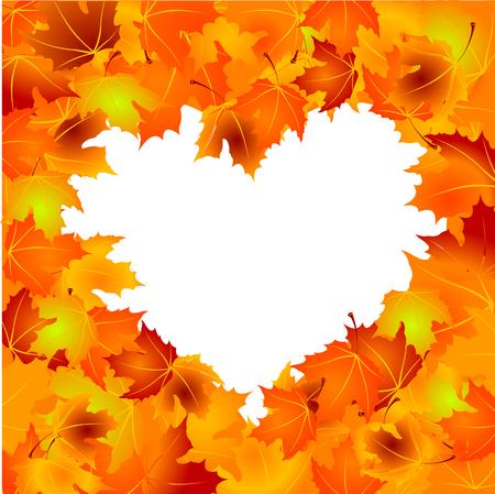 Beautiful Autumn Leaves achtergrond met kopie ruimte  Stock Illustratie