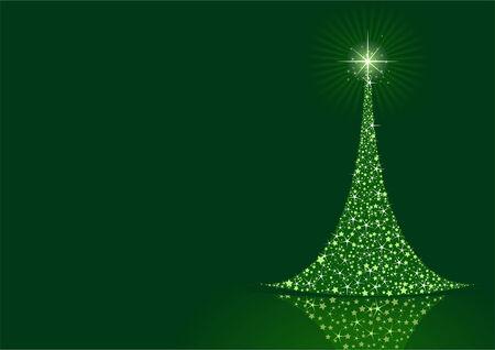 Gestileerde Kerst boom op achtergrond met kopie ruimte  Stock Illustratie