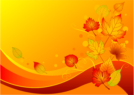 postcard background: Beautiful background with colorful autumn leaves