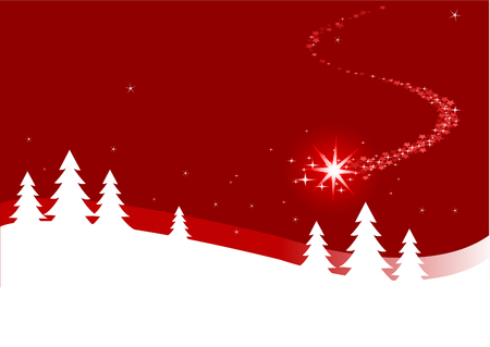 royalty free: An abstract Christmas background illustration with shutting star