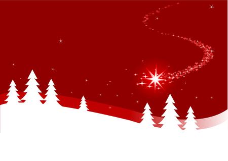 Een abstracte achtergrond illustratie van de Kerst mis met het sluiten van de ster  Stockfoto - 8152883