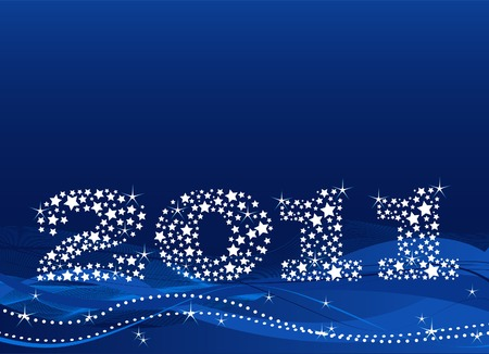 New year's eve background made of stars Stock Vector - 8152921