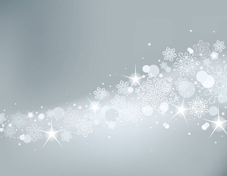 Gray abstract Christmas background with white snowflakes Stock Vector - 8152928