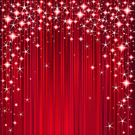 Christmas design with stars and stripes Illusztráció