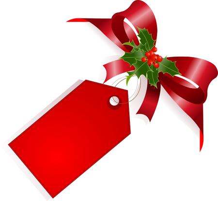 envelope decoration: P�gina de esquina con cinta roja, andlabel de proa. Lugar para copiartexto.