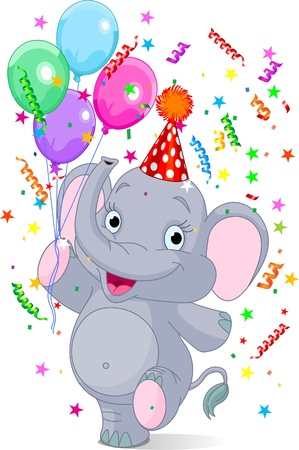 shrank: Happy Very Cute baby elephant birthday