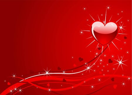 Sparkle Valentine background with heart and place for a text Vector
