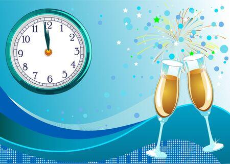 輝く新しい年の大晦日の祭典の背景