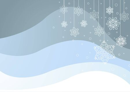 Abstract  winter background with snowflakes Stock Vector - 8518137