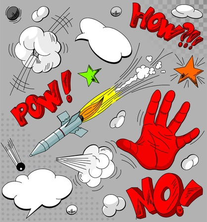 Big Set of comic book explosions for your design Stock Vector - 8567099