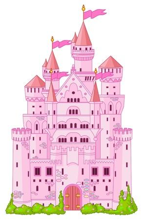 imperium: Illustratie van Magic Fairy Tale prinses kasteel