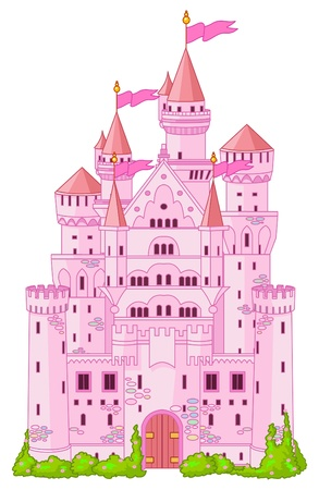 Illustration of Magic Fairy Tale  Princess Castle  Vector