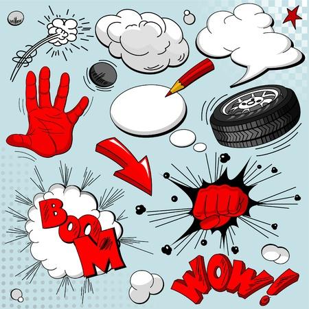 Set van comic book explosies voor uw ontwerp