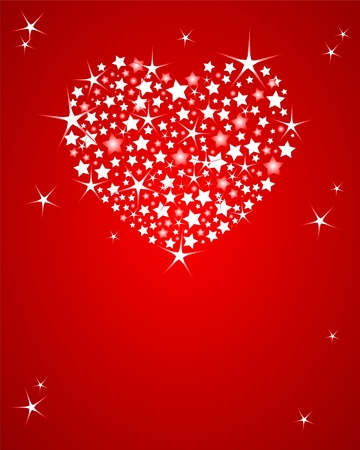 holiday background: Shining vector Valentines Day  background with glitter heart