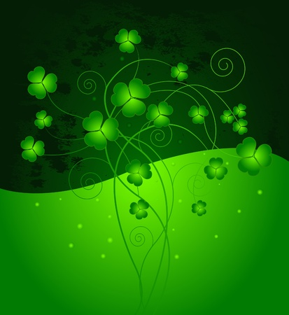 lucky day: Lucky clover background for St. Patricks Day
