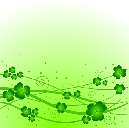 Lucky clover on green background Ilustrace